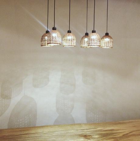 Rattan light pendants from Manila