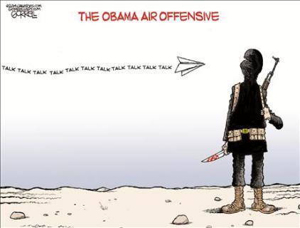 Bob Gorrell Obama Air Offensive
