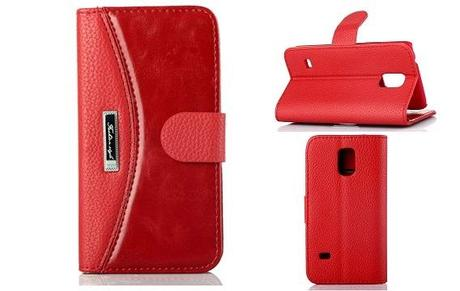 Elegant Wallet Leather Case for Galaxy S5 Mini