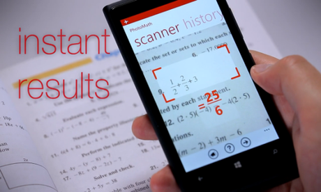 Introducing PhotoMath - An app that solves Math Equations  using your Smartphone's Camera