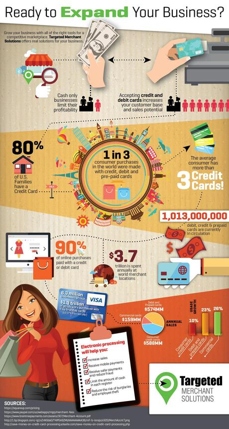 Credit Card & Debit Card Transaction Stats Infographic