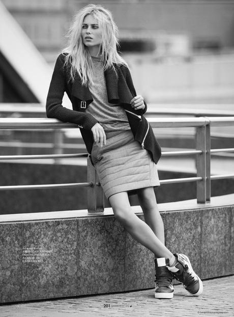 Vika Falileeva in Barbara Bui, American Apparel, Paule Ka and Suecomma Bonnie sneakers © Benjamin Kanarek