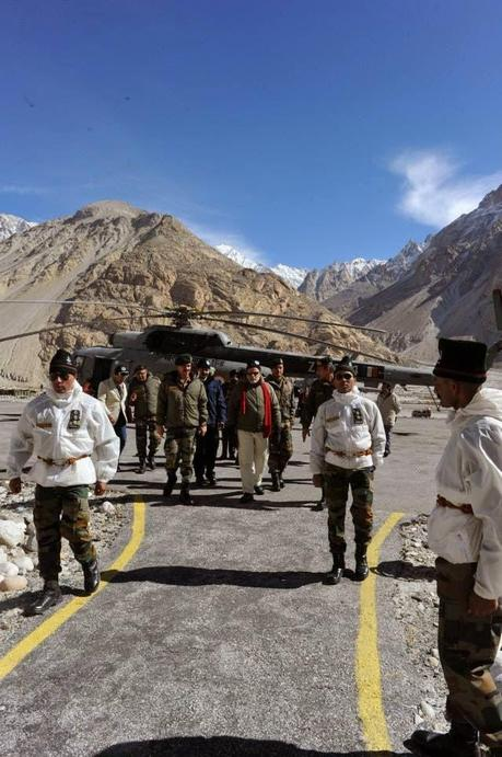 Prime Minister Sri Narendra Modi visits Siachen and meets our SOLDIERS