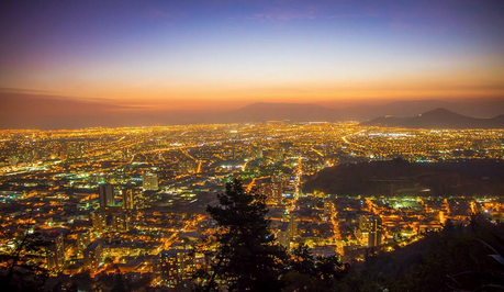 View from the West Side of Cerro San Cristobal at Night