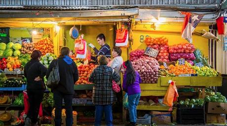 Shot of a Small Vendor at La Vega in the Evening