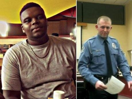 Michael Brown (l); Darren Wilson (r)