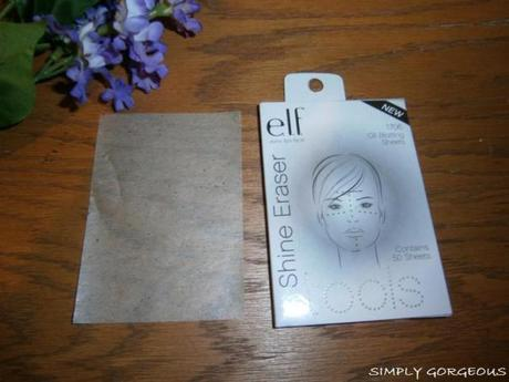 e.l.f. Shine Eraser Oil Blotting Sheets