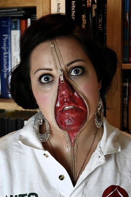 Zipper Face Halloween Costume