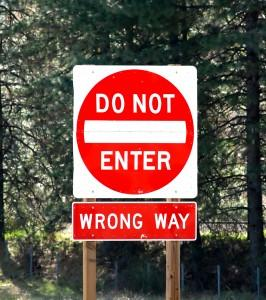 wrong way accidents