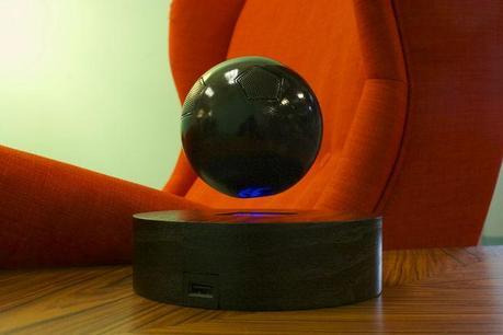 Floating OM/ONE speaker with black sphere