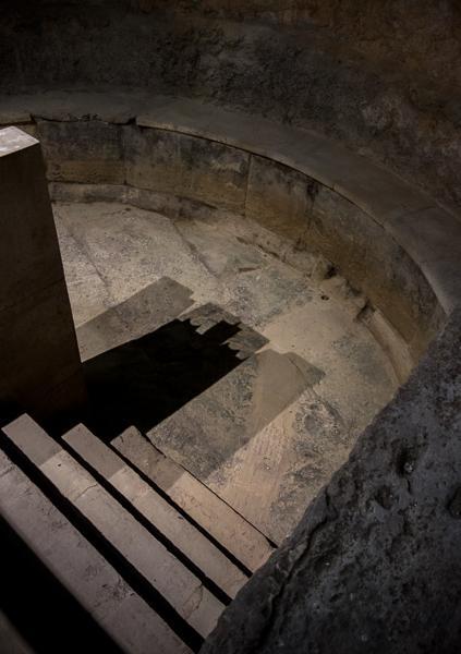 Tub in the Roman Baths, Bath, England