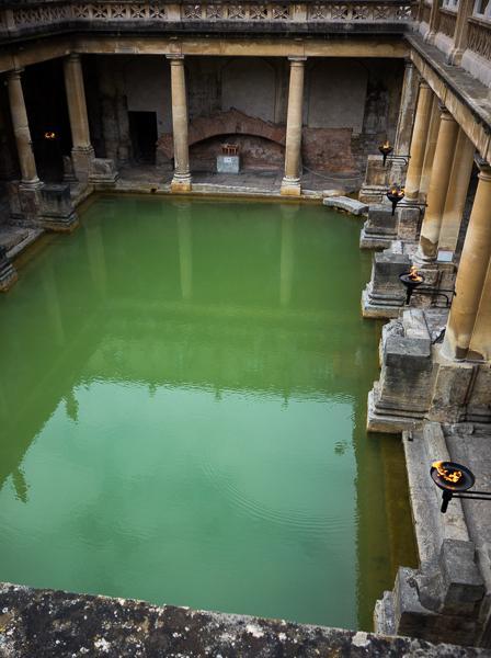 The Great Bath in the Roman Baths, Bath, UK
