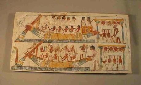 The funeral procession on water