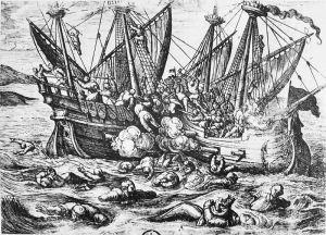 800px-Print_entitled_Horribles_cruautes_des_Huguenot_en_France_16th_century