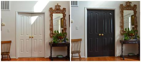 Interior doors-a before and after