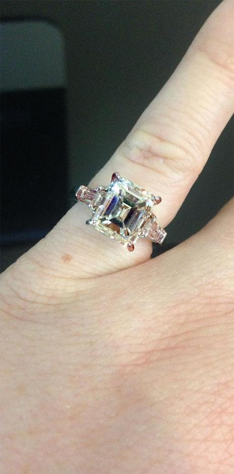 Enerald Cut Engagement Ring
