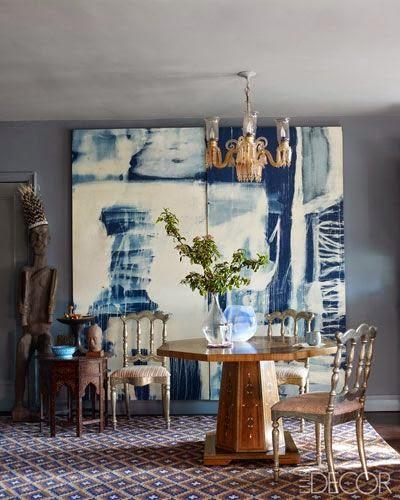 blue white room divider  elle decor