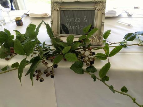 A dark dahlia late summer wedding