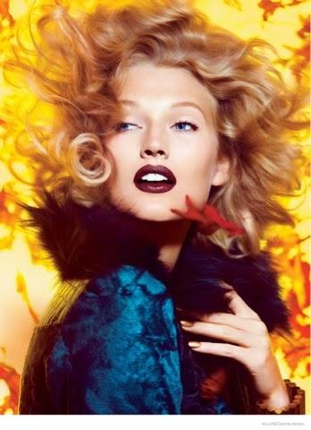TONI GARRN WEARING FALL LIPSTICK SHADES FOR RECENT ALLURE SHOOT