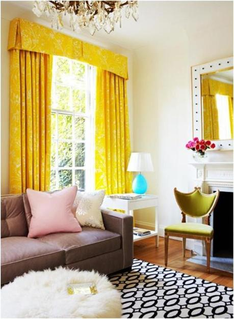 yellow living room colours
