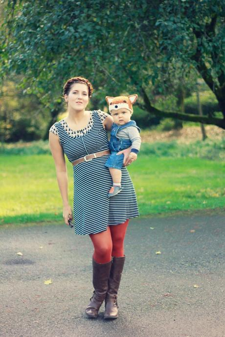 Mama+baby style: the cat and the fox   www.eccentricowl.com