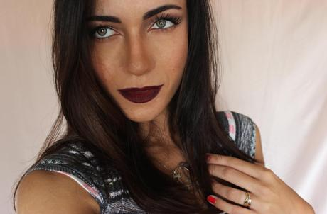 Ombre Burgundy Lips For Fall
