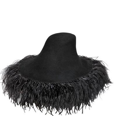 LANVIN Feather-trimmed hat