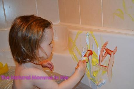 Day 20: Shaving foam bath paint