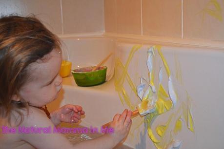 Day 20: Shaving foam bath paint