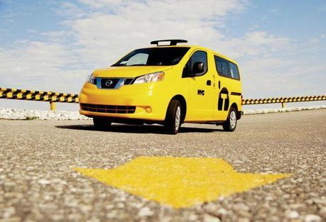 New York's newest taxi cab color, a shade of yellow