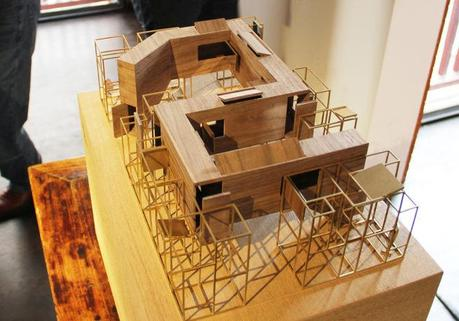 A work-in-progress model of Neri & Hu's concept for the Das Haus installation at IMM Cologne 2015.