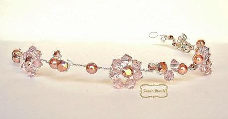 Shop a New Rose Gold Beaded Wedding Headband by FancieStrands