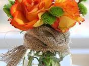 Sunday Bouquet: Orange Roses Burlap