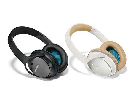 Two pairs of Bose QuietComfort 25 noise-cancelling headphones.
