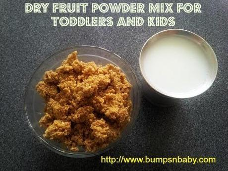 home made dry fruit powder mix for toddlers and kids
