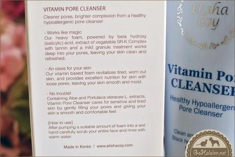 Review: ElishaCoy Vitamin Pore Cleanser