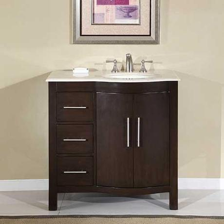 Avola Small Vanity with Sink on the Right Side