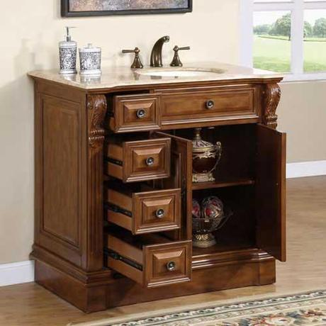 Soprano Single Bath Vanity with Right Hand Sink