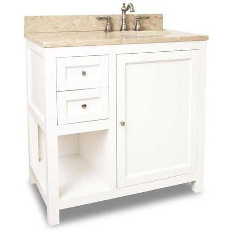 Bathroom Vanity with Right Side Sink