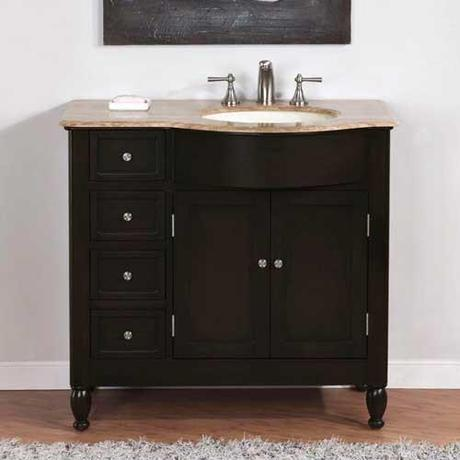 Godrano Vanity shown with Sink on the Right