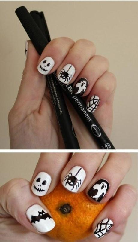 halloween-nail-art-manicure-tutorial-using-permanent-pens-white-and-black