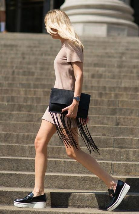 fringe-clutch-dress-and-flatforms-luckymag