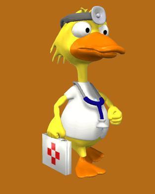 3d-Animasi-Doctor-Duck-Walking-Animated-Animal