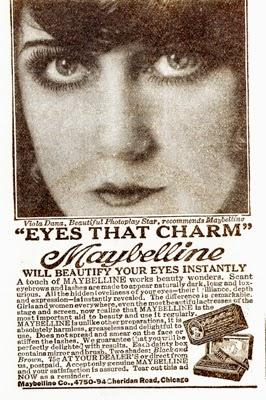 Three Silent Screen Stars endorse Maybelline