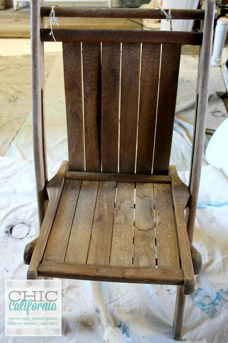 Folding Chair before oil