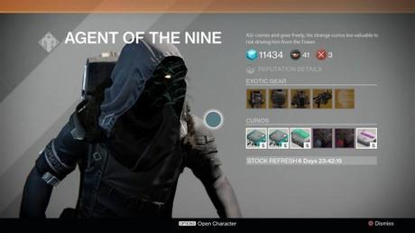 Destiny: Xur location and inventory for October 31, November 1