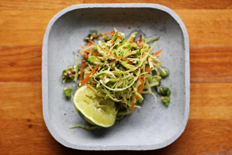 Asian coleslaw with cabbage, carrots, lime and sesame seeds #187