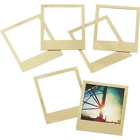 CB2 Gold Polaroid Magnets