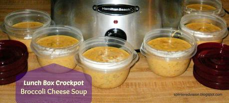 Lunch Box Crockpot Broccoli Cheese Soup