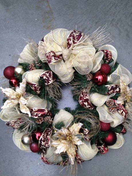 14 Designer Christmas Wreaths   Paperblog